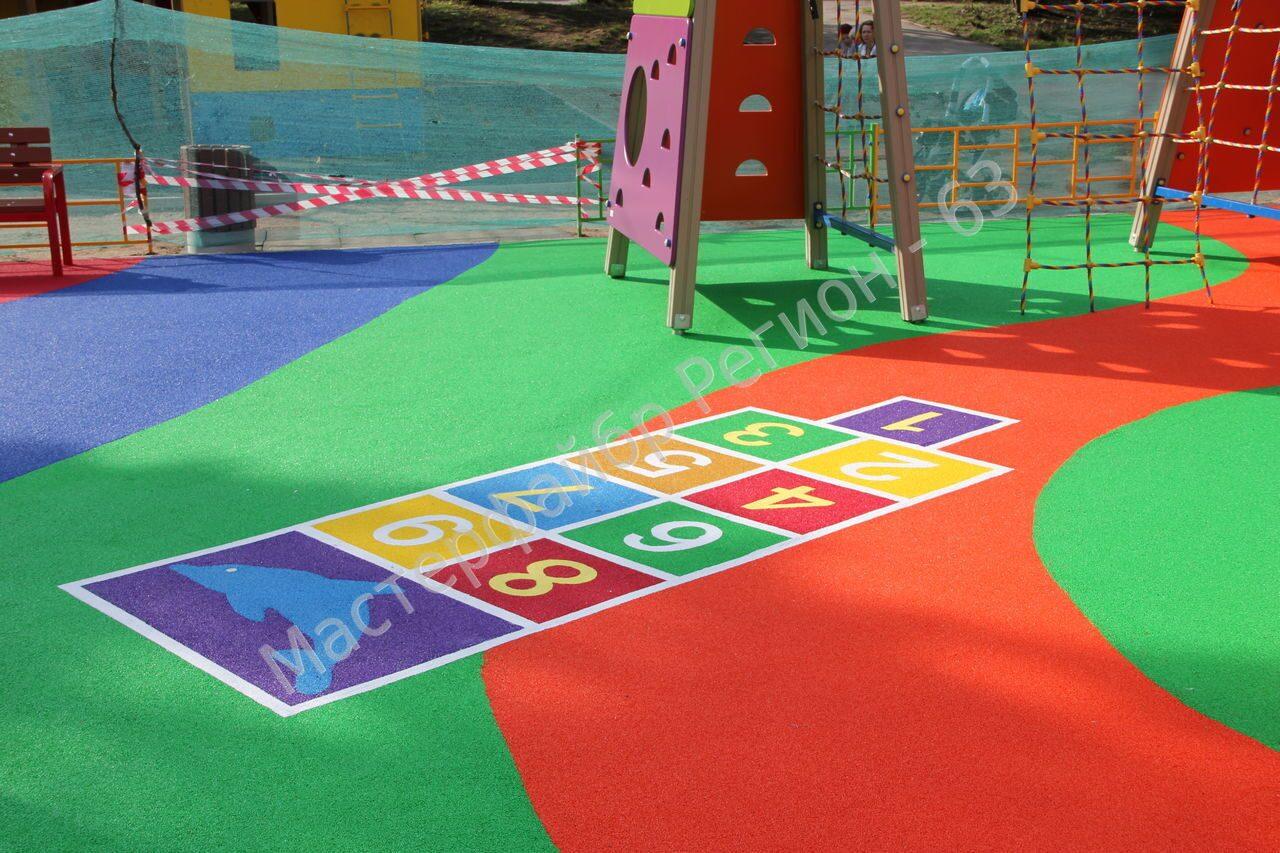 Как сделать покрытие для детской площадки 853